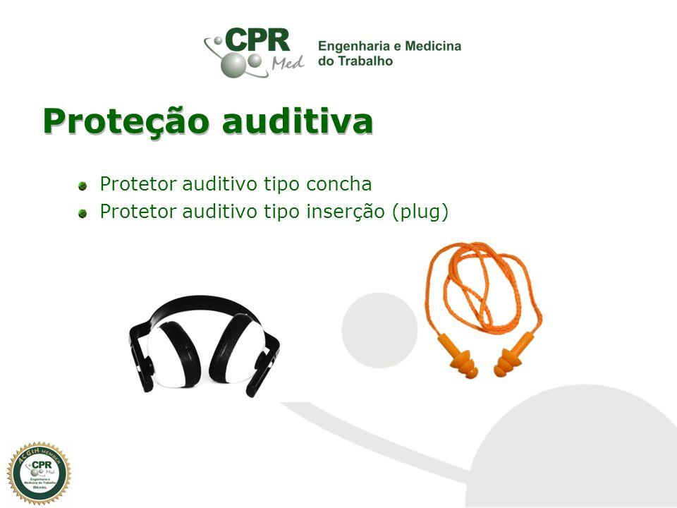 Proteção auditiva Protetor auditivo tipo concha Protetor auditivo tipo inserção (plug)