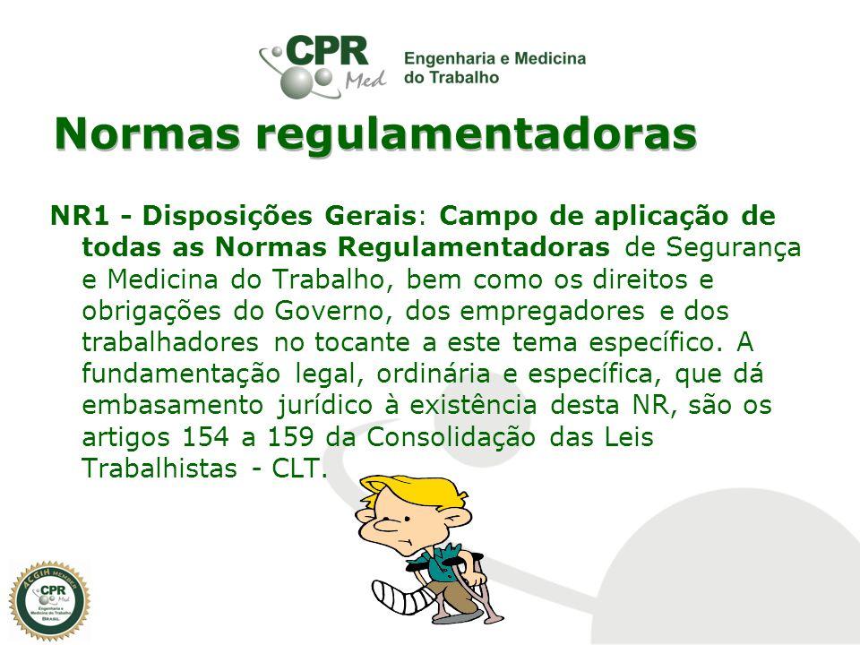 Normas regulamentadoras NR1 - Disposições Gerais: Campo de aplicação de todas as Normas Regulamentadoras de Segurança e Medicina do Trabalho, bem como