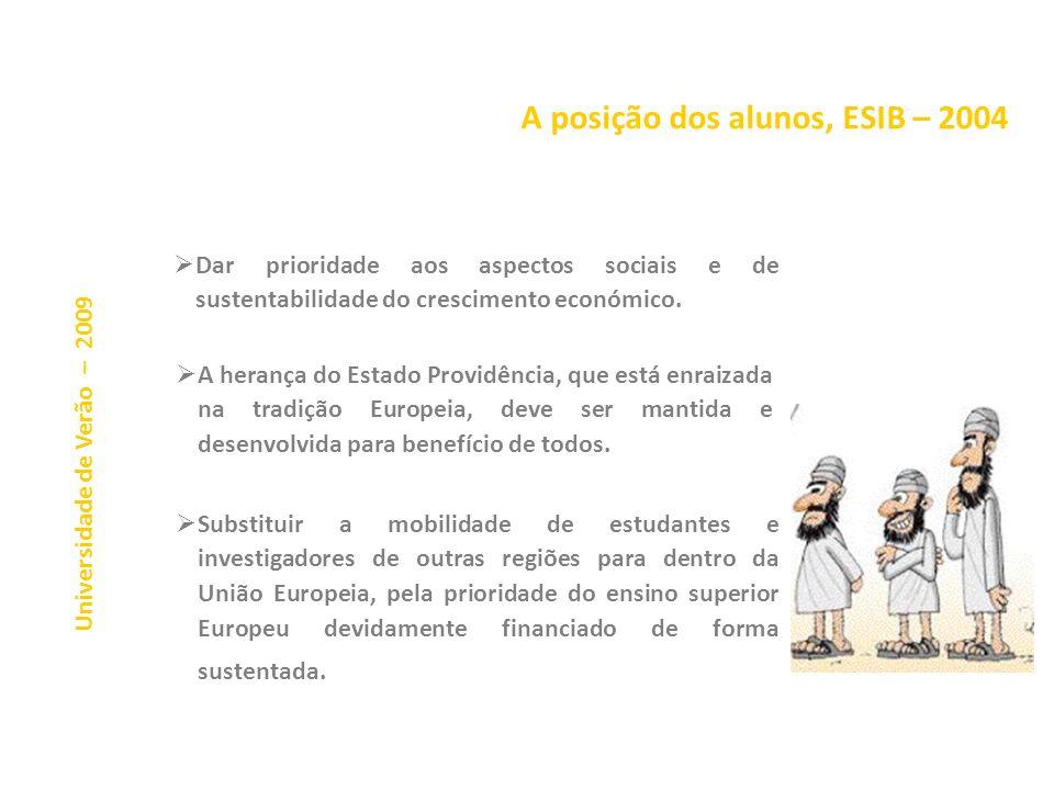 A estratégia de Lisboa Não deixa de ser curioso que os alunos (os tais que alguns querem afastar dos órgãos de gestão) tenham tido uma percepção do pr