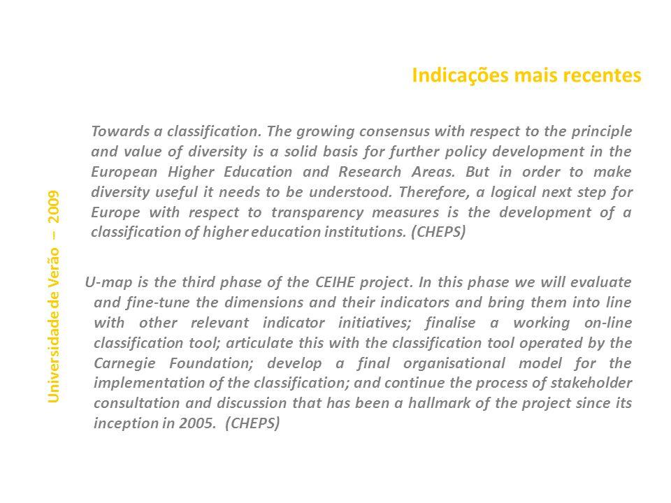 Indicações mais recentes O abandono dos alunos nessa reunião, os únicos a pretender alterar as conclusões por forma a evitar um ranking de universidad