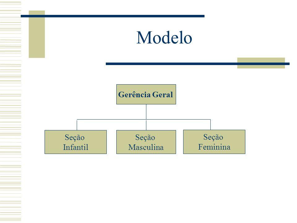 Modelo Gerência Geral Seção Feminina Seção Masculina Seção Infantil