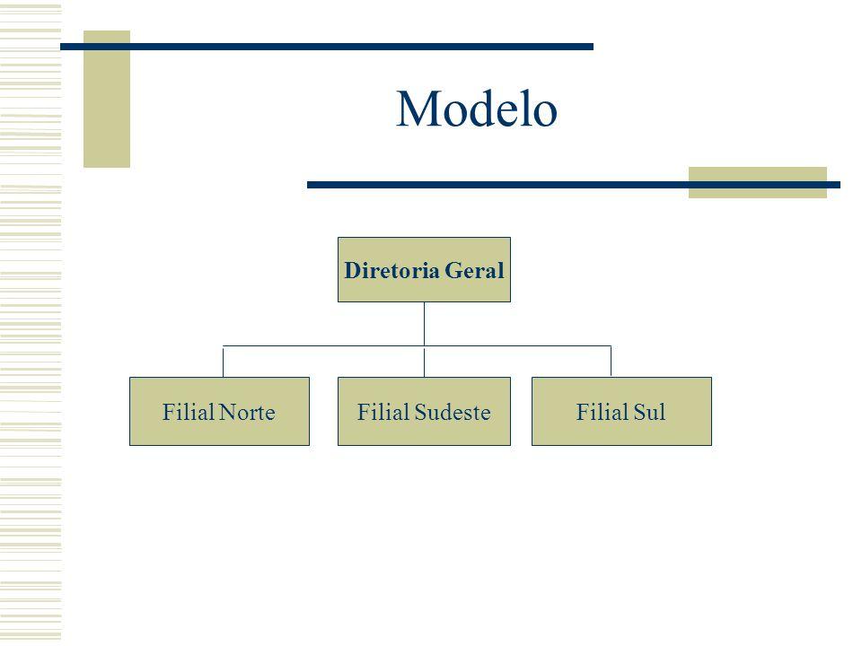 Modelo Diretoria Geral Filial SulFilial SudesteFilial Norte