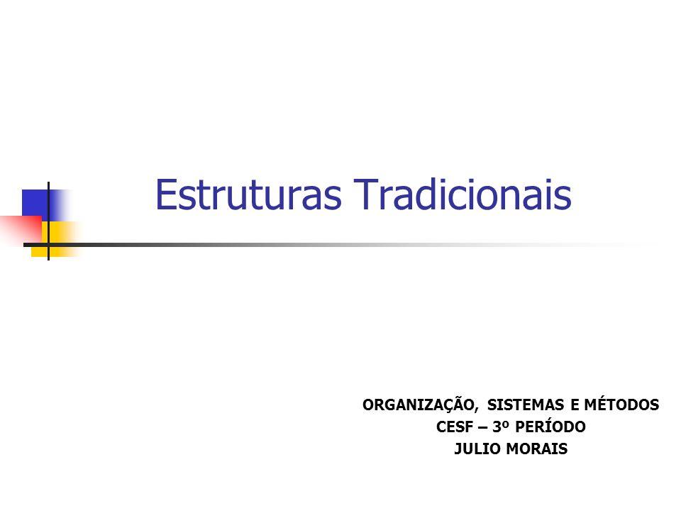Estruturas Tradicionais ORGANIZAÇÃO, SISTEMAS E MÉTODOS CESF – 3º PERÍODO JULIO MORAIS