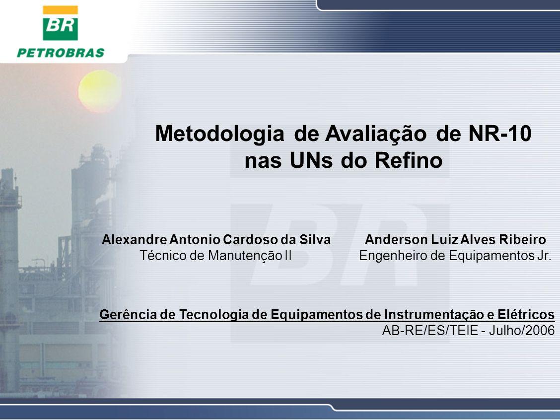 Avaliação de NR-10 nas UNs do Refino Sumário 1.Histórico 2.Metodologia 3.Aplicação nas UNs 4.Benefícios obtidos