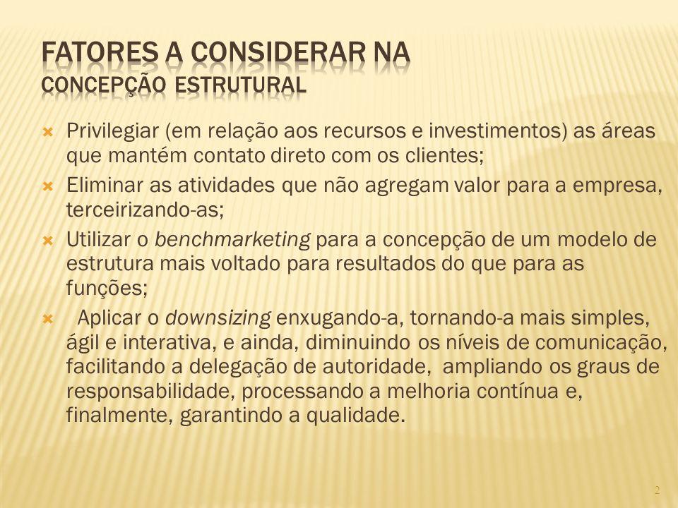 2 Privilegiar (em relação aos recursos e investimentos) as áreas que mantém contato direto com os clientes; Eliminar as atividades que não agregam val