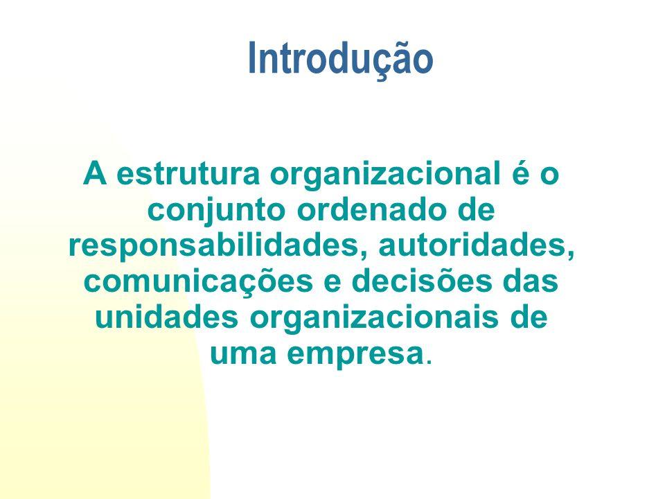Componentes São três os componentes: Sistema de Responsabilidade (alocação de atividades) Sistema de Autoridade ( distribuição de poder) Sistema de Comunicação ( interação das unidades)