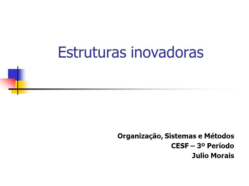 Estruturas inovadoras Organização, Sistemas e Métodos CESF – 3º Período Julio Morais
