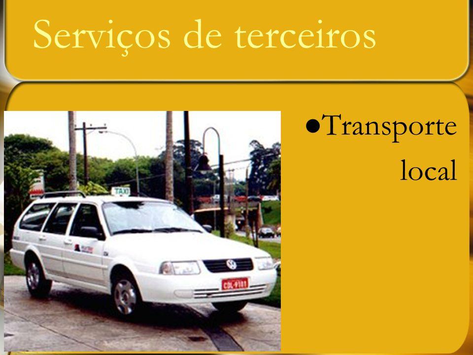 Transporte local Serviços de terceiros