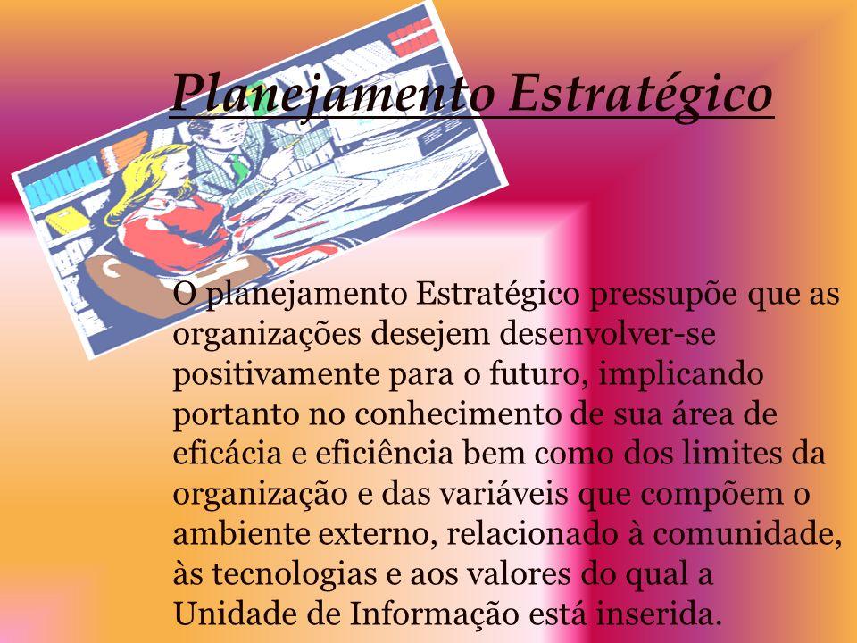 Planejamento Estratégico O planejamento Estratégico pressupõe que as organizações desejem desenvolver-se positivamente para o futuro, implicando porta
