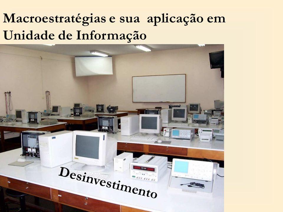 Macroestratégias e sua aplicação em Unidade de Informação Desinvestimento