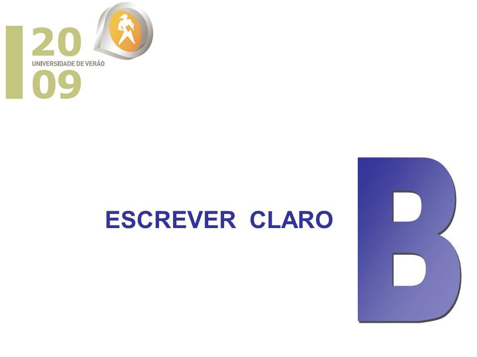 ESCREVER CLARO