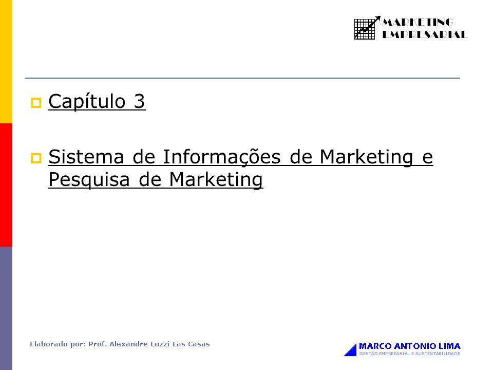 Elaborado por: Prof. Alexandre Luzzi Las Casas Capítulo 3 Sistema de Informações de Marketing e Pesquisa de Marketing
