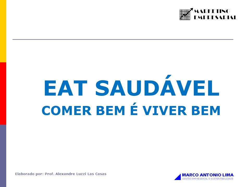 EAT SAUDÁVEL COMER BEM É VIVER BEM Elaborado por: Prof. Alexandre Luzzi Las Casas