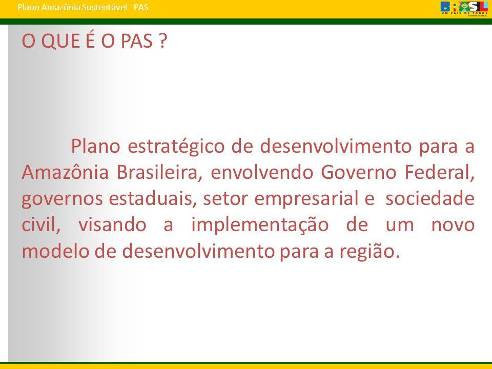 Plano Amazônia Sustentável - PAS O QUE É O PAS .