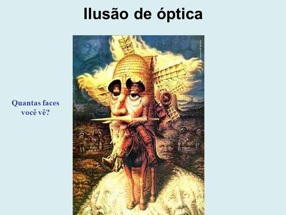 Ilusão de óptica Quantas faces você vê?