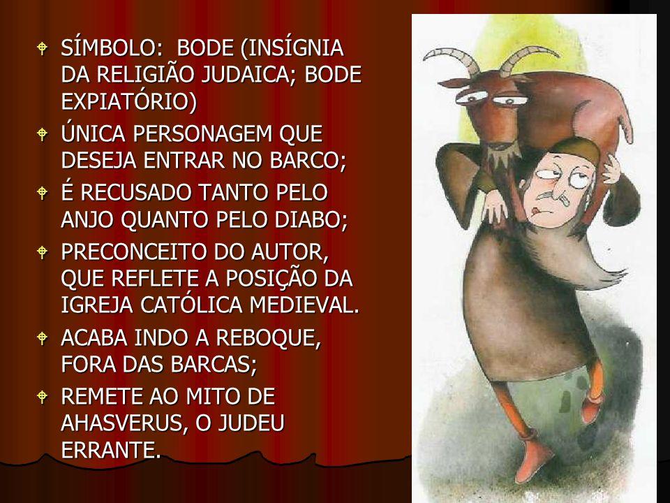 SÍMBOLO: BODE (INSÍGNIA DA RELIGIÃO JUDAICA; BODE EXPIATÓRIO) SÍMBOLO: BODE (INSÍGNIA DA RELIGIÃO JUDAICA; BODE EXPIATÓRIO) ÚNICA PERSONAGEM QUE DESEJ