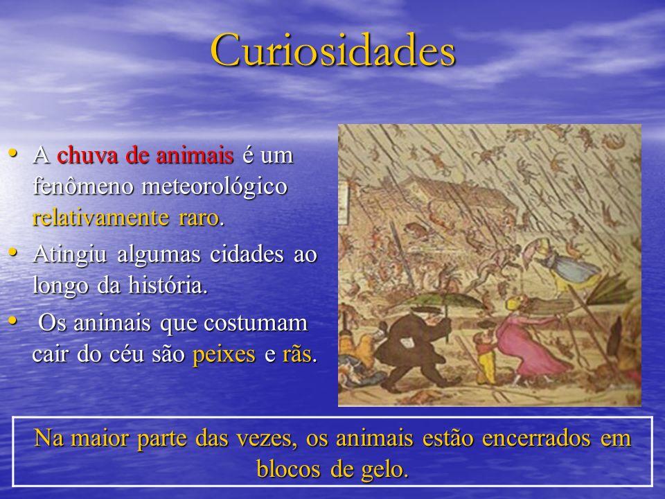 Curiosidades A chuva de animais é um fenômeno meteorológico relativamente raro. A chuva de animais é um fenômeno meteorológico relativamente raro. Ati