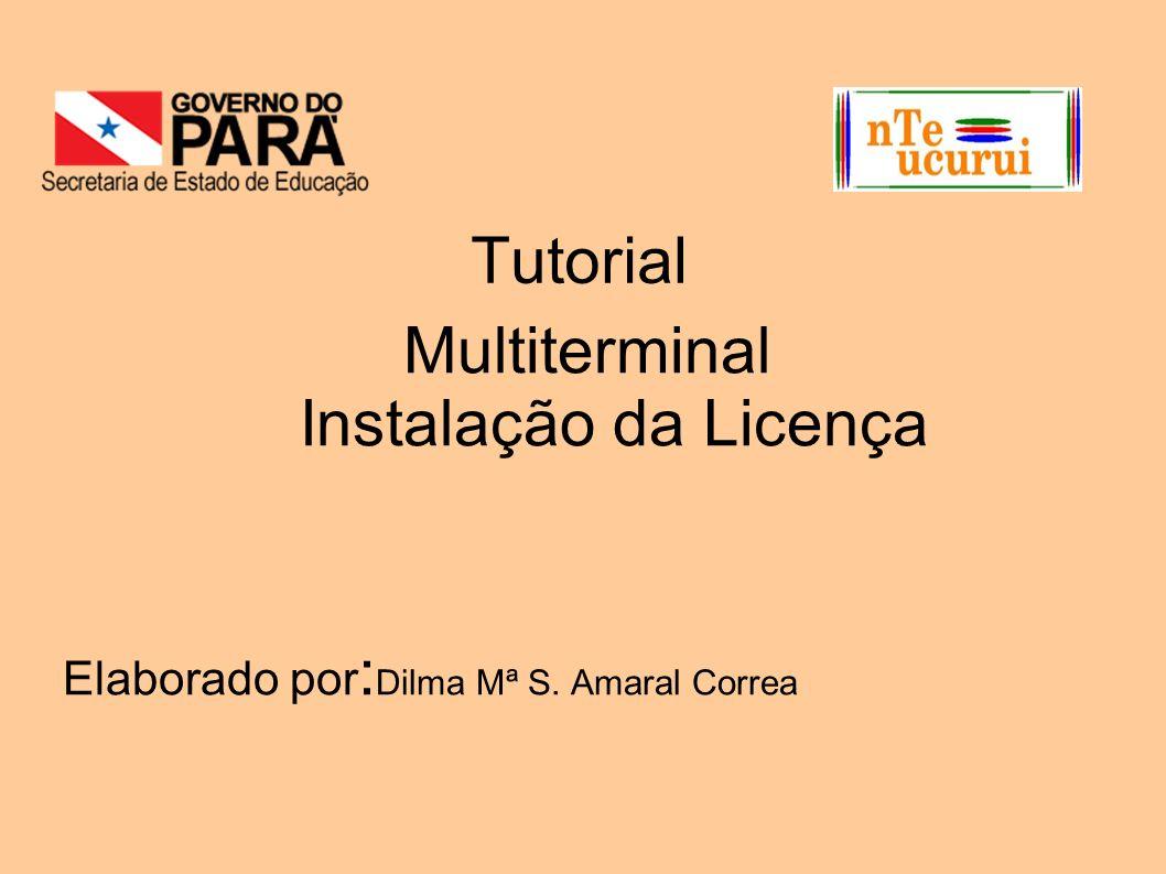 Tutorial Multiterminal Instalação da Licença Elaborado por : Dilma Mª S. Amaral Correa