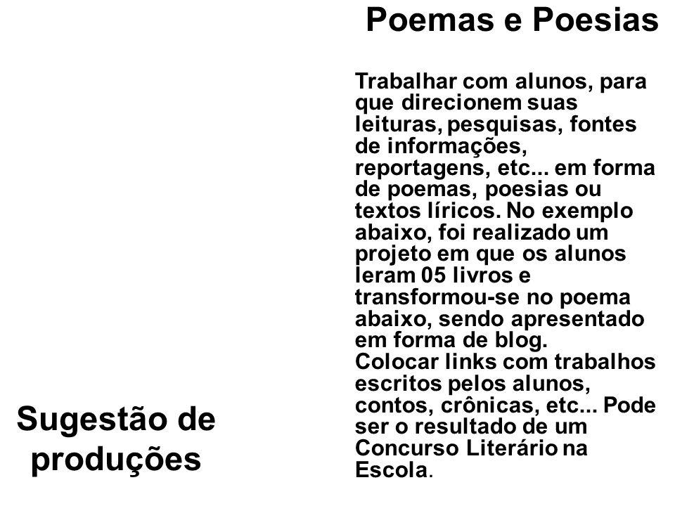 Sugestão de produções DICIONÁRIOSÀ MODA DO ALUNO Pesquisa de campo para escrever e traduzir as gírias da galera.