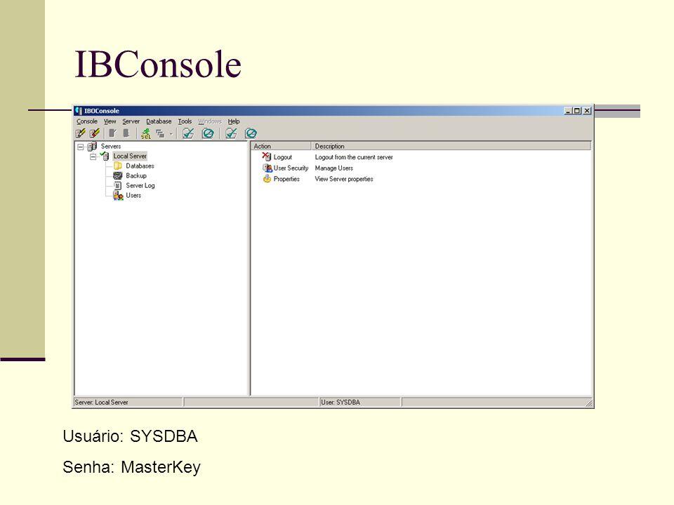 Criar Banco de Dados DataBase -> Create Database