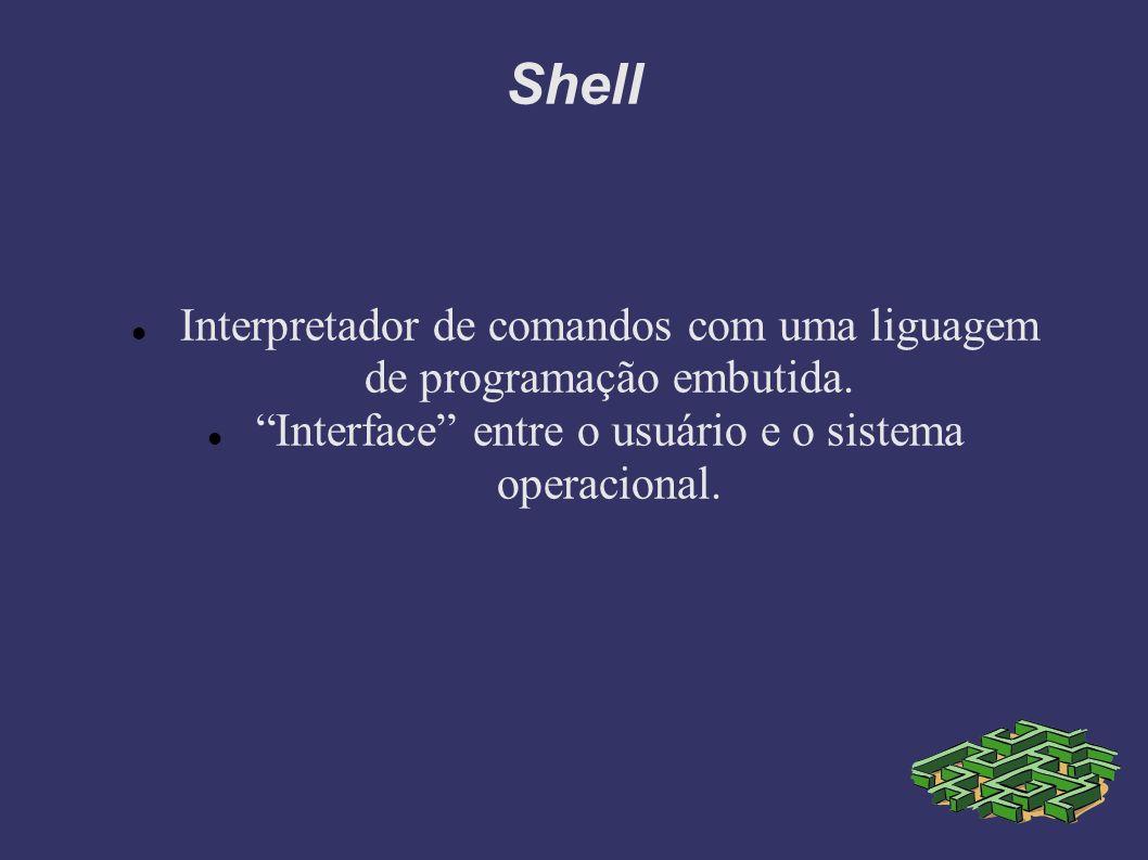 Shell Interpretador de comandos com uma liguagem de programação embutida.