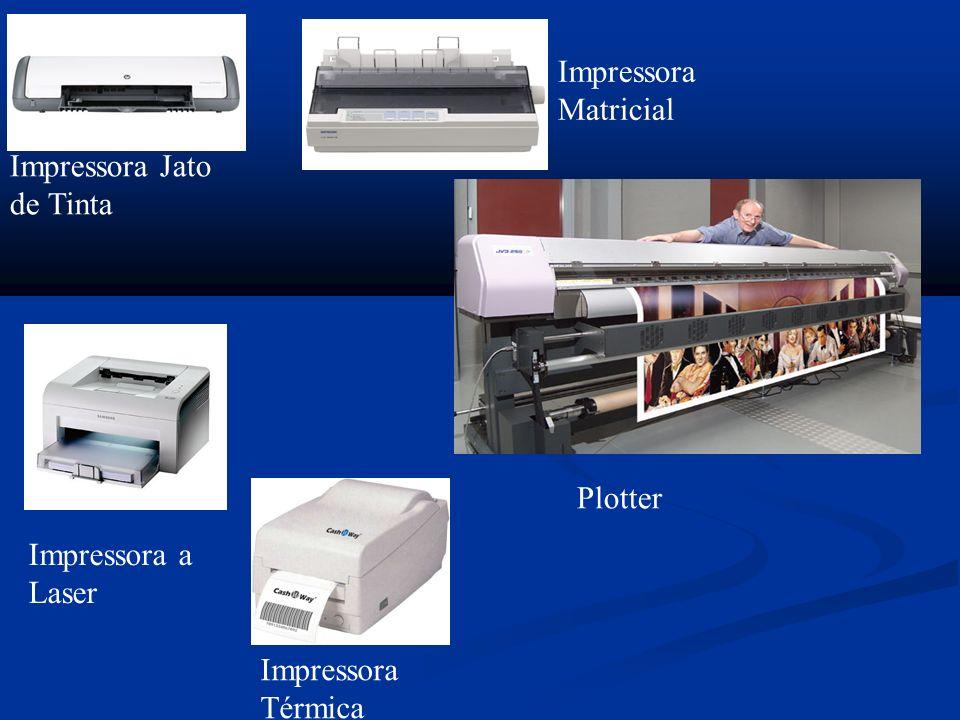 Impressora Jato de Tinta Impressora Matricial Impressora a Laser Impressora Térmica Plotter