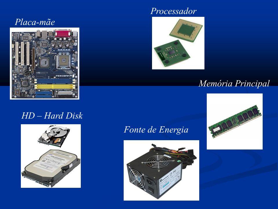 Placa-mãe Memória Principal Processador Fonte de Energia HD – Hard Disk