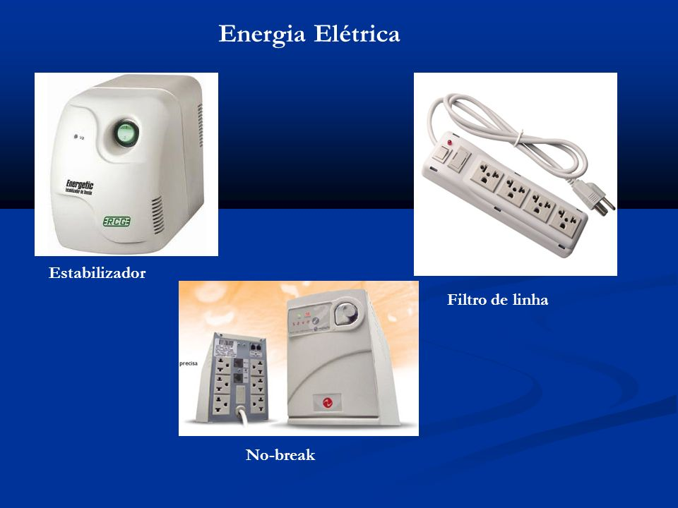 Energia Elétrica Estabilizador No-break Filtro de linha
