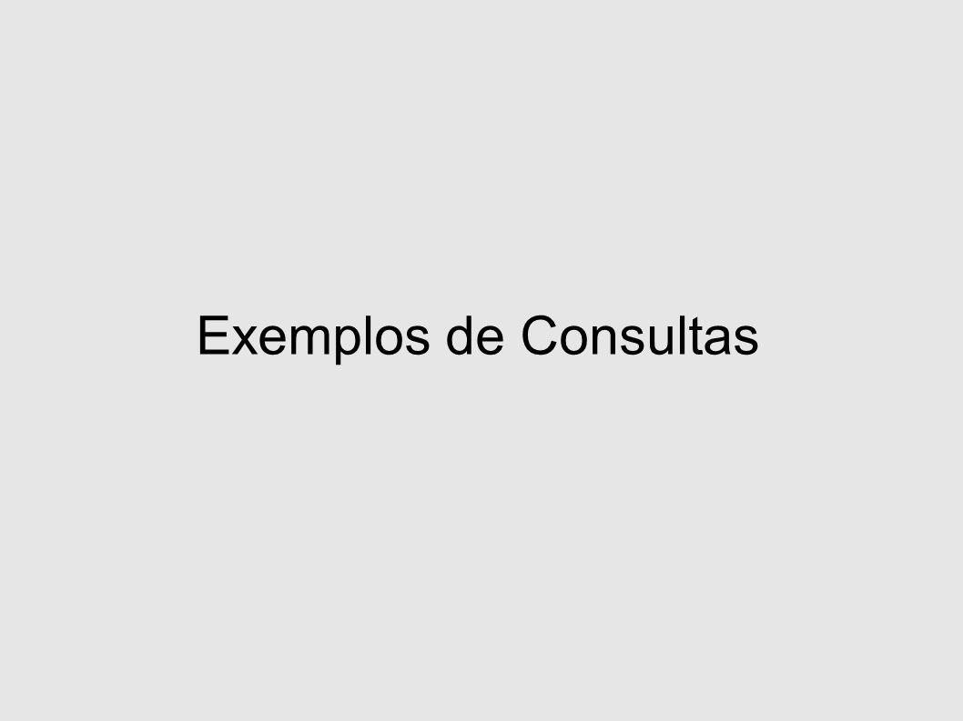 Exemplos de Consultas