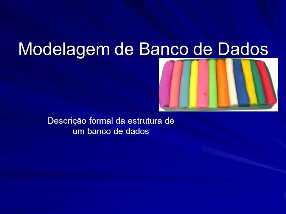 Modelagem de Banco de Dados Descrição formal da estrutura de um banco de dados