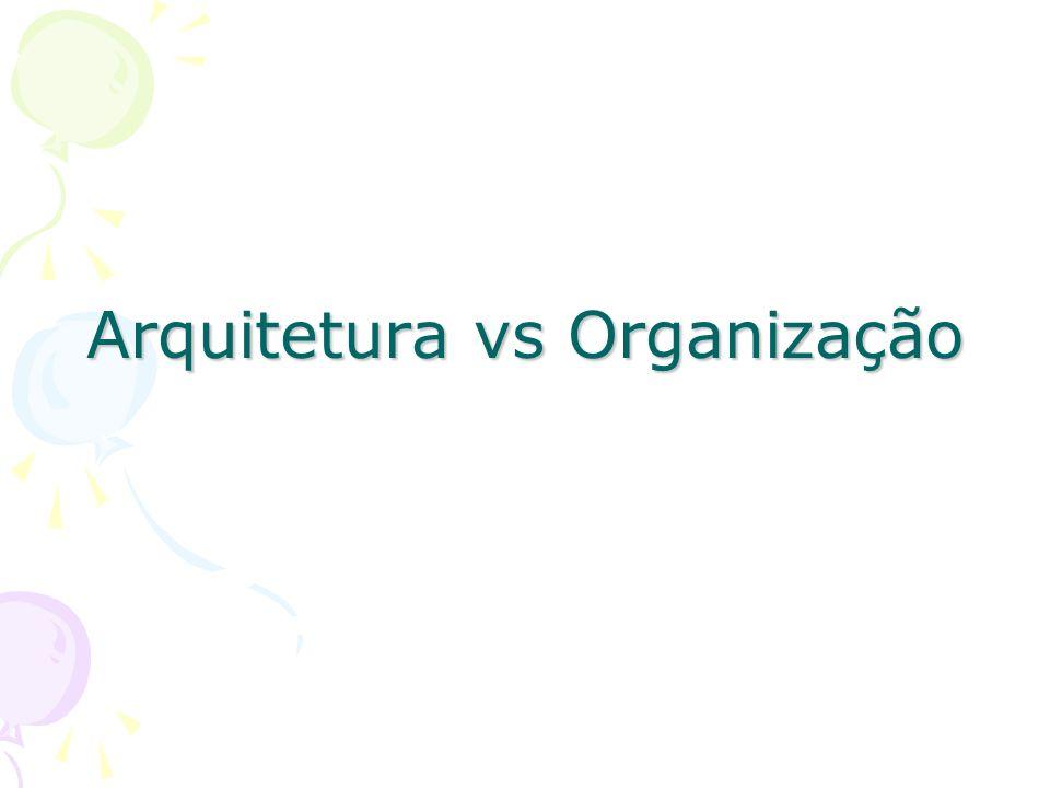 Arquitetura vs Organização