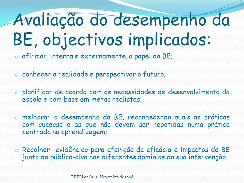 Projecto Educativo Plano Anual de Actividades Regulamento Interno Projectos Curriculares de Turma BE EBI de Salir/ Novembro de 2008