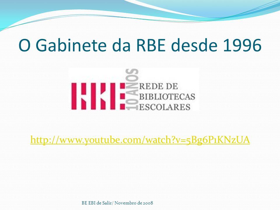 O Gabinete da RBE desde 1996 http://www.youtube.com/watch?v=5Bg6P1KNzUA BE EBI de Salir/ Novembro de 2008