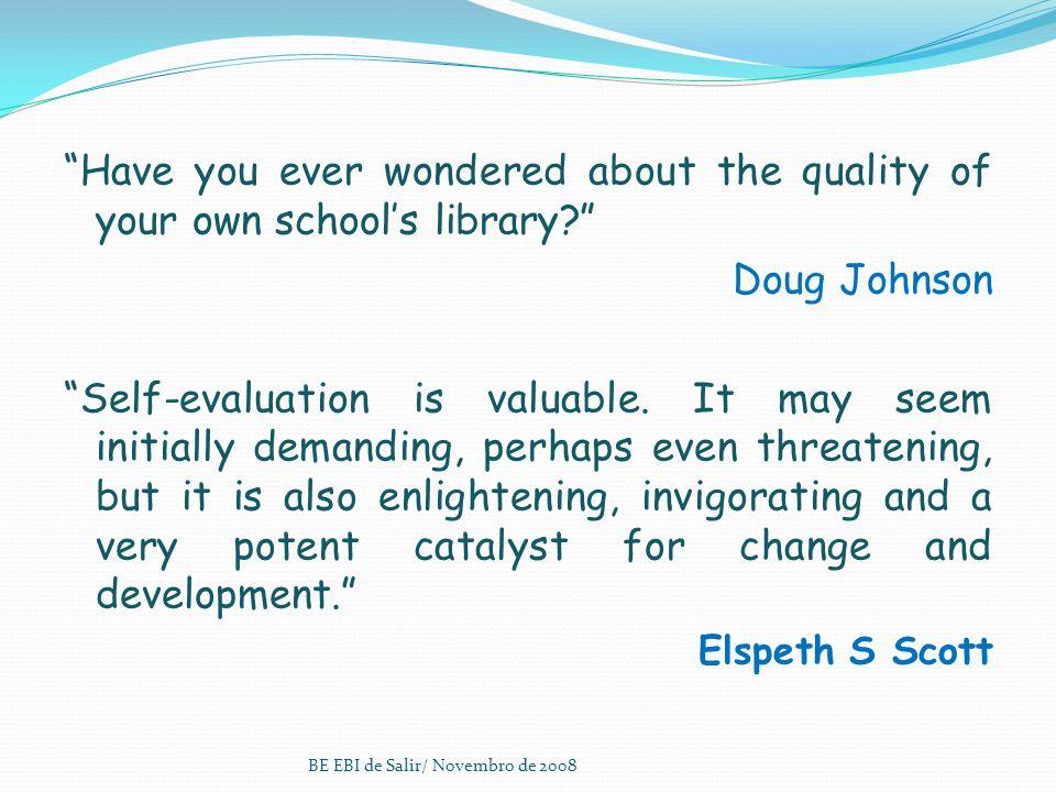 Biblioteca Escolar da EBI Salir Porque somos imprescindíveis.