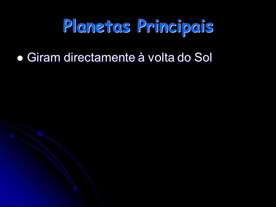 Planetas Principais Giram directamente à volta do Sol