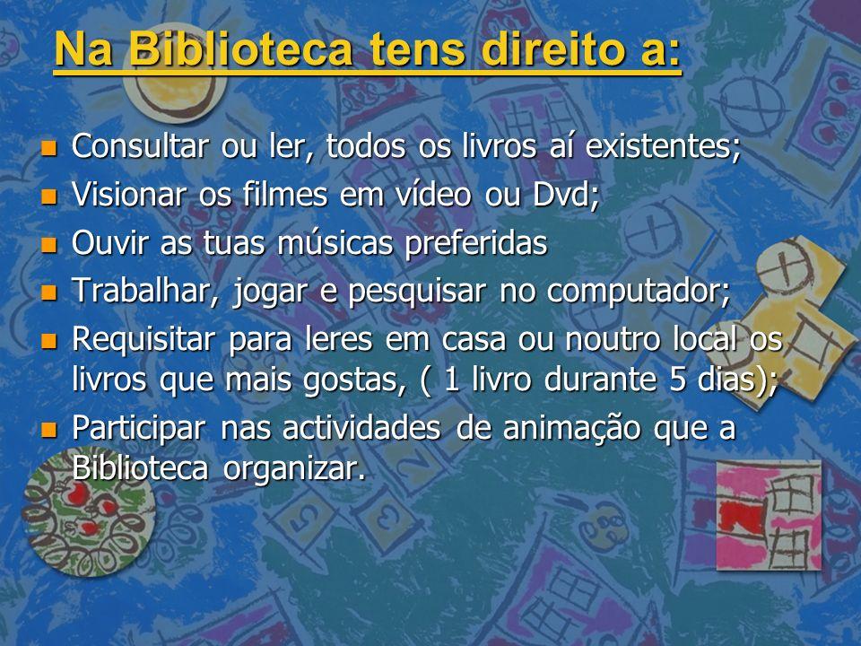 ZONAS DA BIBLIOTECA: Atendimento Consulta de Documentos Áudio/Vídeo Leitura Informal Multimédia 1º Ciclo Cada área deve ser utilizada de forma correcta