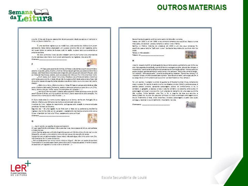 Escola Secundária de Loulé OUTROS MATERIAIS