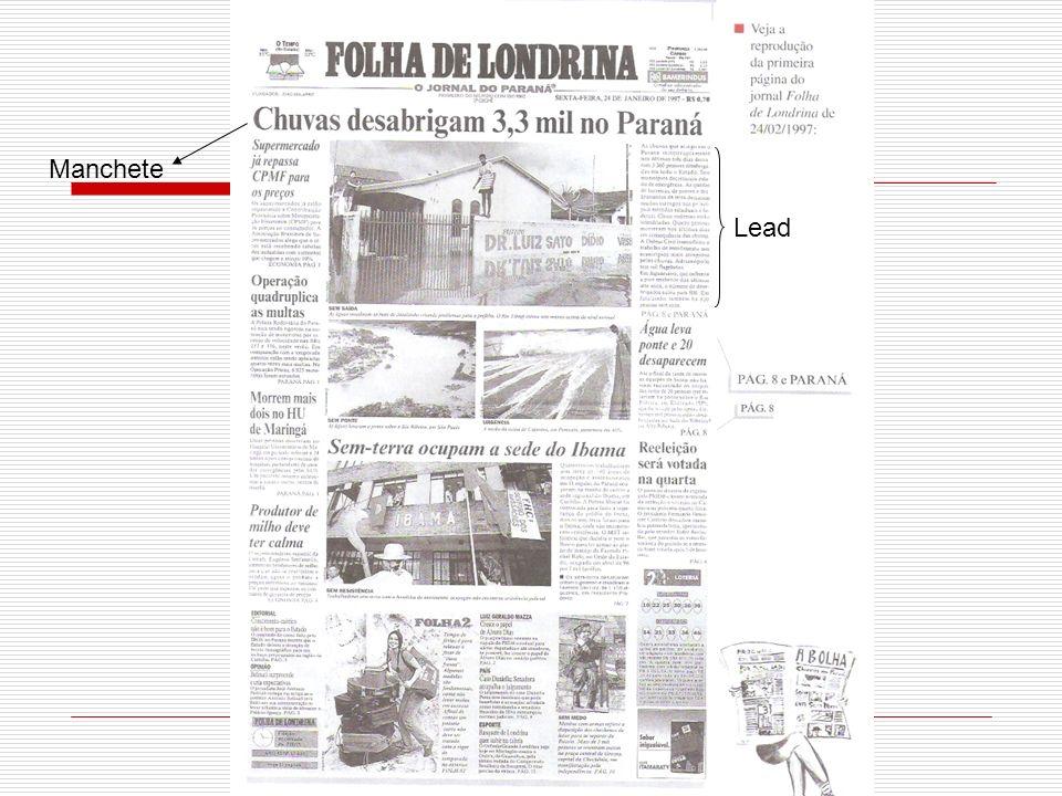 www.professoracecilia.wordpress.com Observe que na página de capa do jornal, encontramos um título mais chamativo, que fica em destaque.