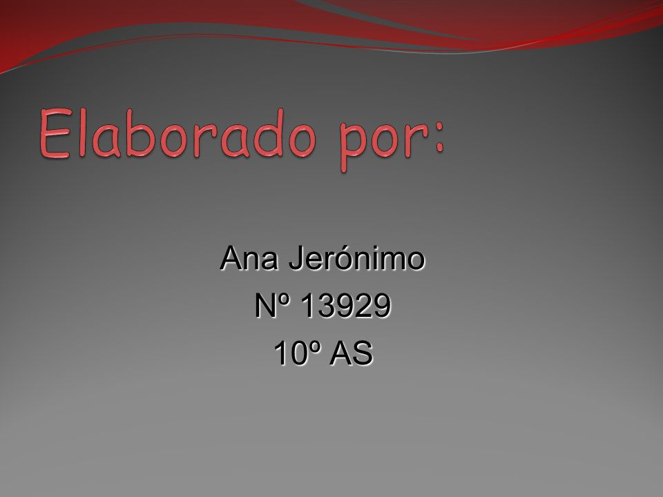 Ana Jerónimo Nº 13929 10º AS