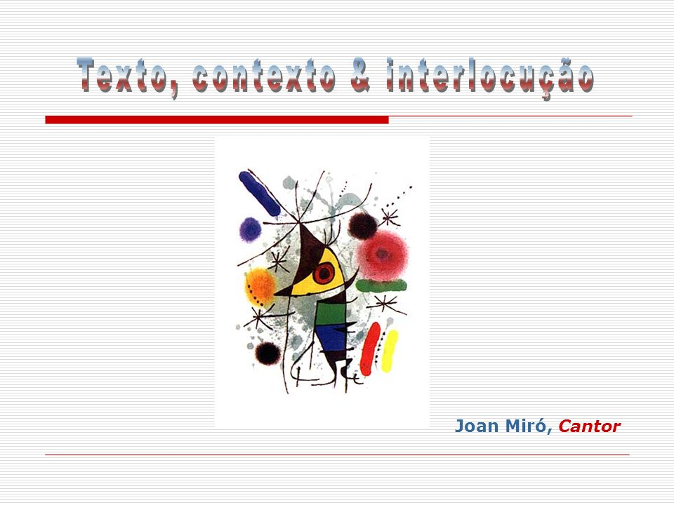 Joan Miró, Cantor
