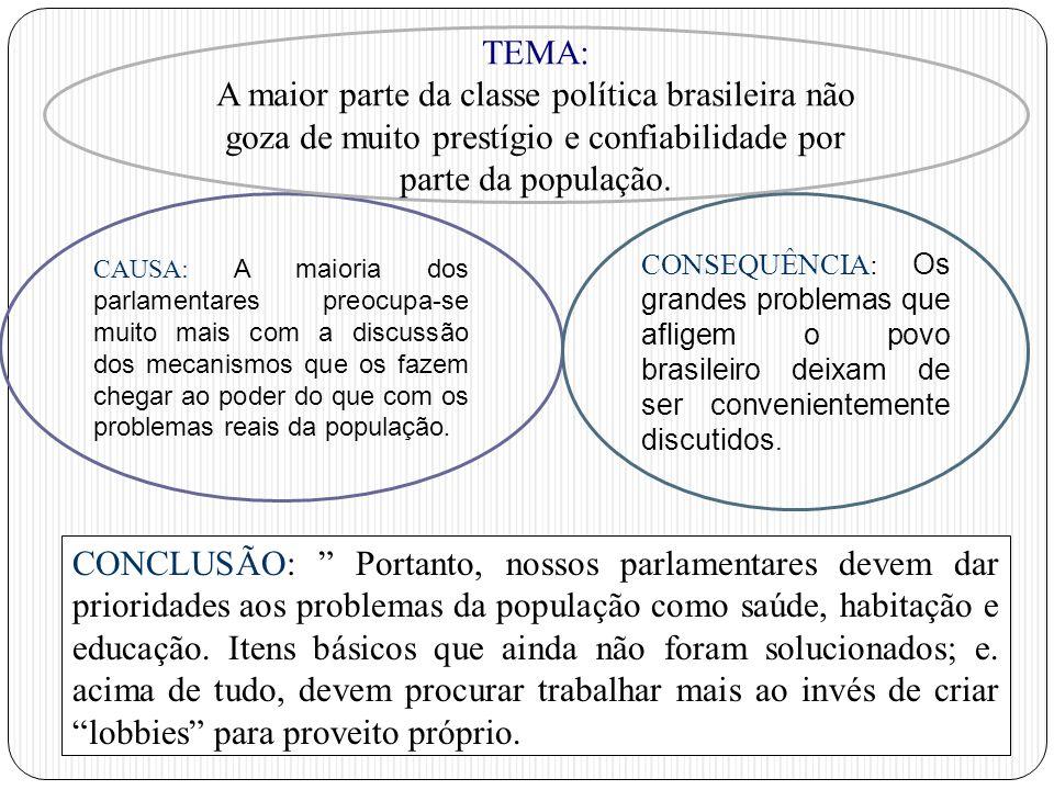 CAUSA: A maioria dos parlamentares preocupa-se muito mais com a discussão dos mecanismos que os fazem chegar ao poder do que com os problemas reais da
