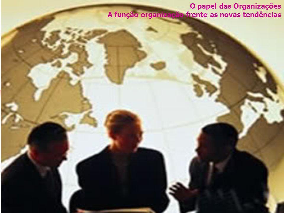 O papel das Organizações A função organização frente as novas tendências