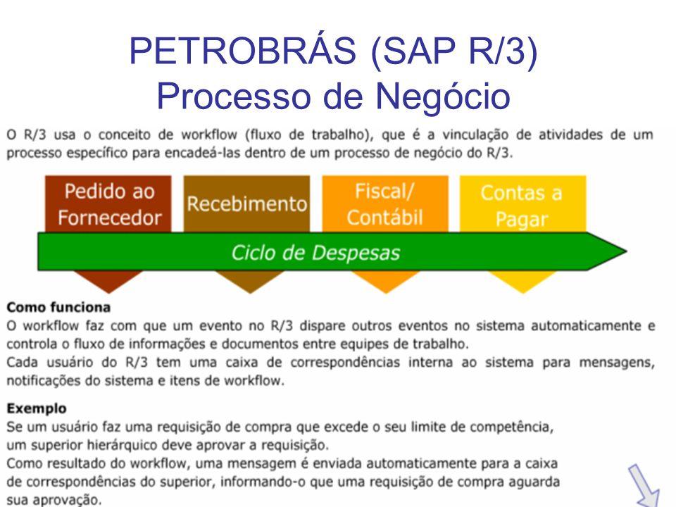 22 PETROBRÁS (SAP R/3) Processo de Negócio