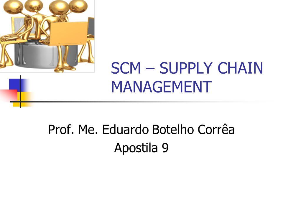 SCM – SUPPLY CHAIN MANAGEMENT Prof. Me. Eduardo Botelho Corrêa Apostila 9
