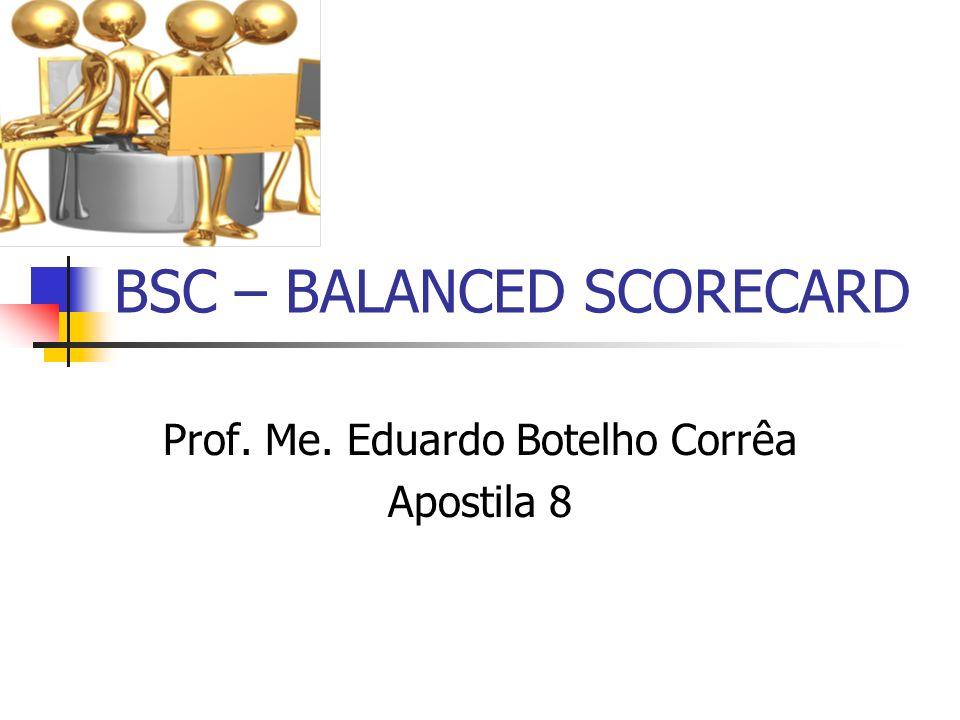 BSC – BALANCED SCORECARD Prof. Me. Eduardo Botelho Corrêa Apostila 8