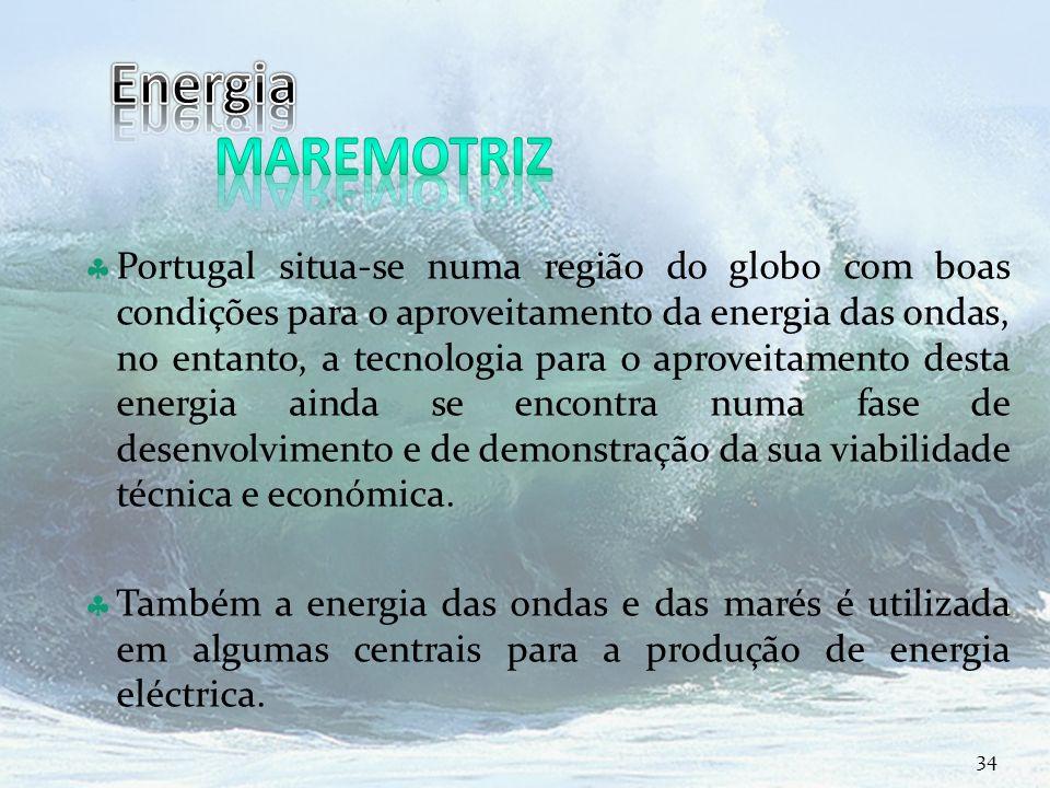 Curso Técnico de Informática e Sistemas Portugal situa-se numa região do globo com boas condições para o aproveitamento da energia das ondas, no entan