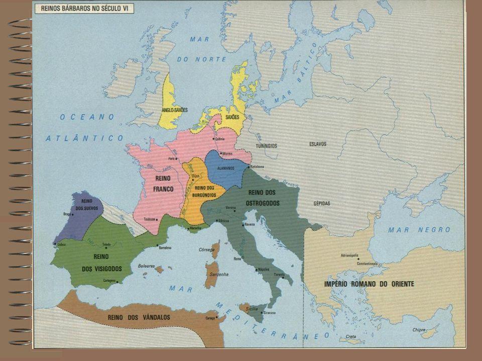 Os Francos Os francos conquistaram quase todo antigo Império Romano do Ocidente.