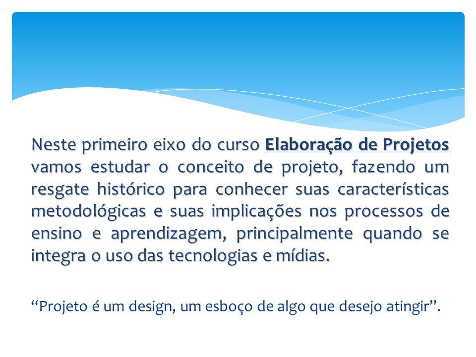 Neste primeiro eixo do curso Elaboração de Projetos vamos estudar o conceito de projeto, fazendo um resgate histórico para conhecer suas característic