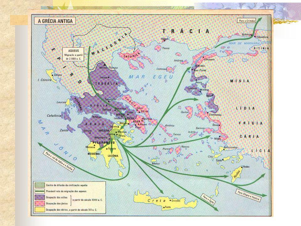 Micênicos e minoicos disputavam o poder e o luxo da região.