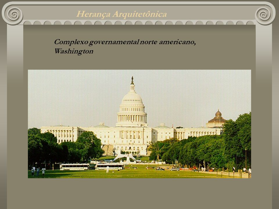 Herança Arquitetônica Complexo governamental norte americano, Washington